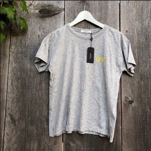 Rag & Bone Gray Bye Embroidered relaxed Tee C47